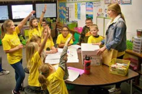 Leadership spans the ages at Ellsworth Elementary